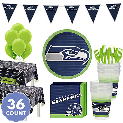 Super Seattle Seahawks Party Kit For 36 Guests