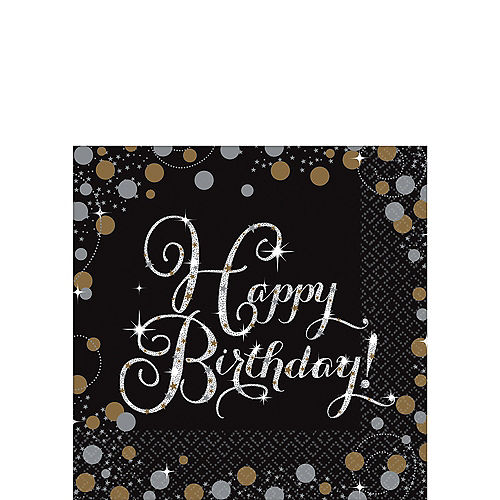 Sparkling Celebration Happy Birthday Party Supplies Party City