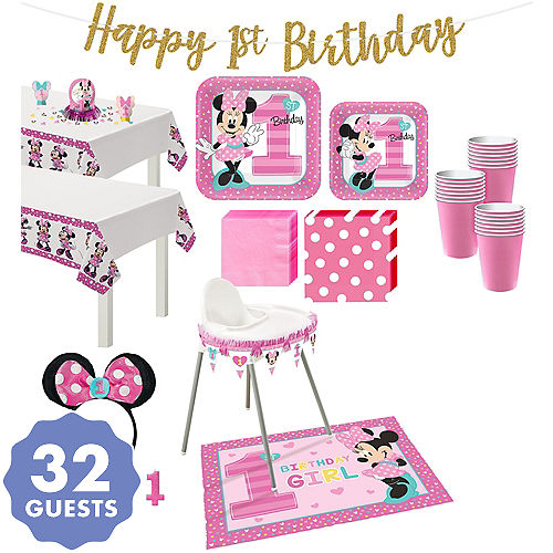 Minnie Mouse 1st Birthday Party Supplies City Canada