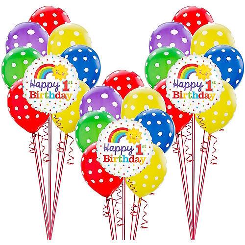Rainbow 1st Birthday Balloon Kit