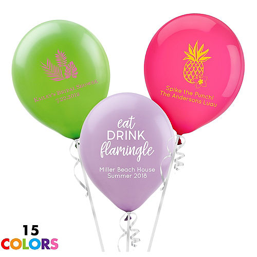 Personalized Luau Latex Balloon