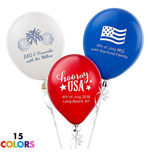 Personalized 4th Of July Latex Balloon