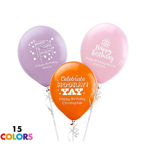 Personalized Happy Birthday Latex Small Balloon