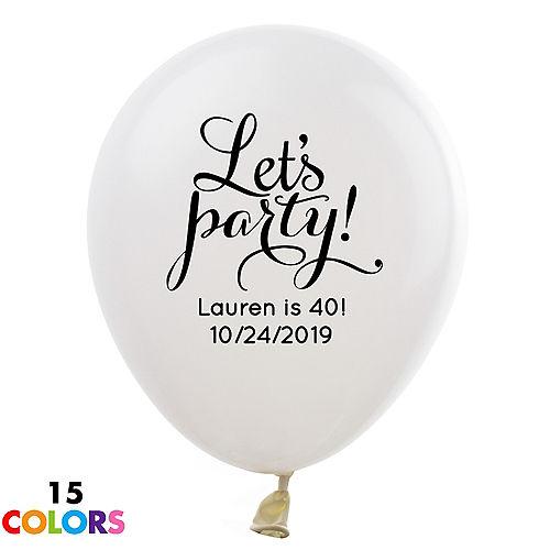 Personalized Happy Birthday Latex Balloon
