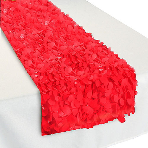 Red Fl Table Runner