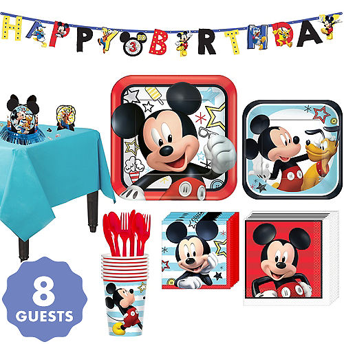 5d1a411da367 Mickey Mouse Party Supplies - Mickey Mouse Birthday Ideas | Party City