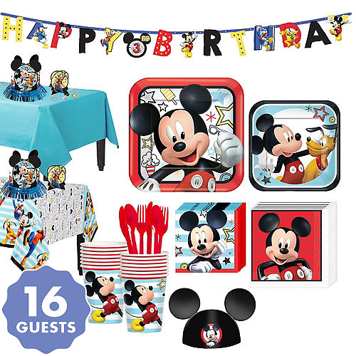 078387e45 Mickey Mouse Party Supplies - Mickey Mouse Birthday Ideas | Party City