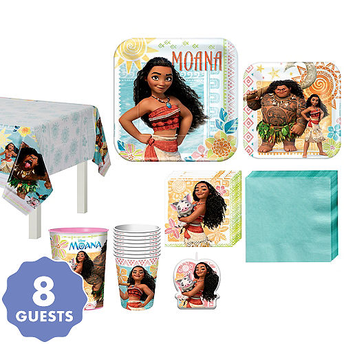 Moana Tableware Party Kit For 8 Guests