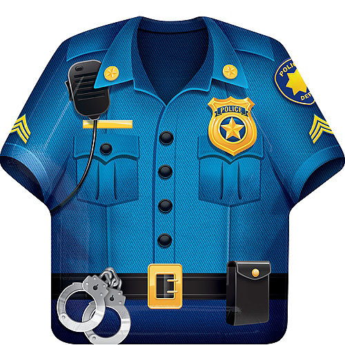 Police Shirt Lunch Plates 8ct