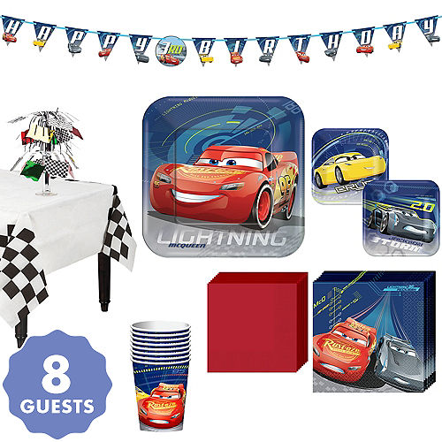 Cars 3 Tableware Party Kit For 8 Guests