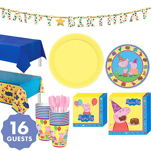 Peppa Pig Tableware Party Kit For 16 Guests