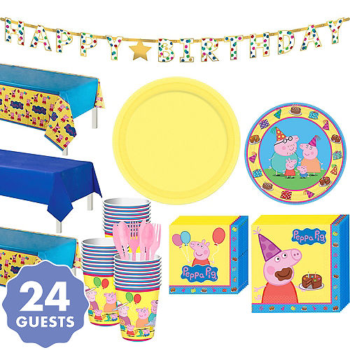 Peppa Pig Tableware Party Kit For 24 Guests