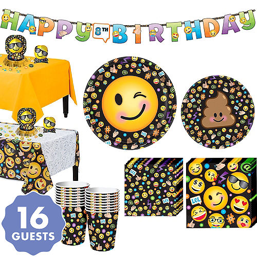 Smiley Tableware Party Kit For 16 Guests