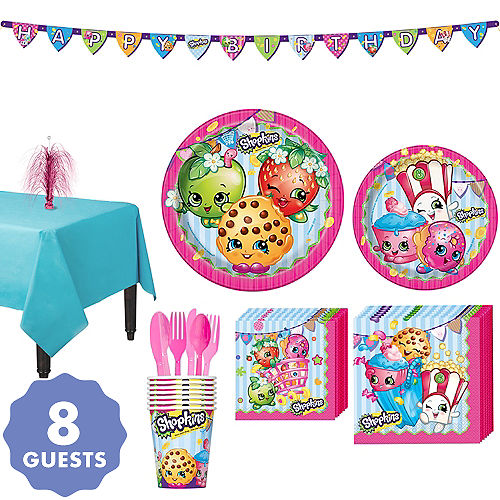Shopkins Tableware Party Kit For 8 Guests