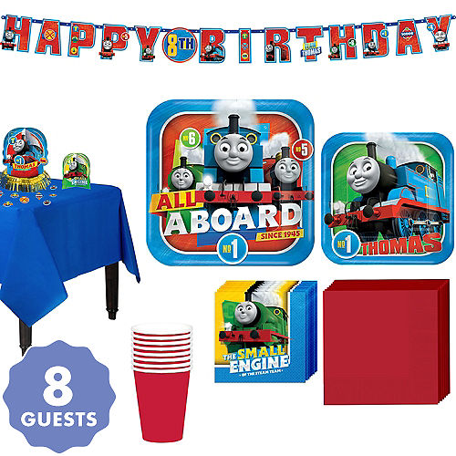 Thomas The Tank Engine Tableware Party Kit For 8 Guests