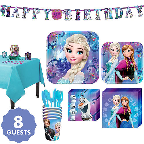 Frozen Tableware Party Kit For 8 Guests