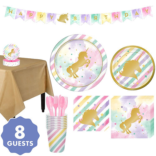Sparkling Unicorn Tableware Party Kit for 8 Guests 1f005a9d8