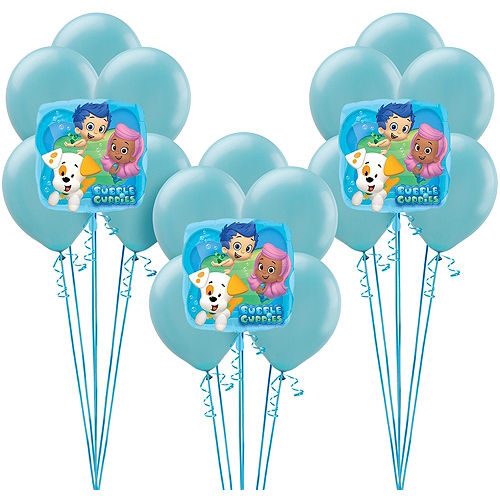 Bubble guppies party supplies bubble guppies birthday party city bubble guppies balloon kit maxwellsz