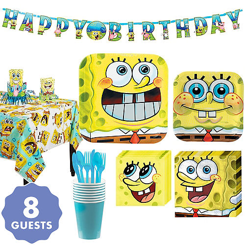 SpongeBob Tableware Party Kit For 8 Guests