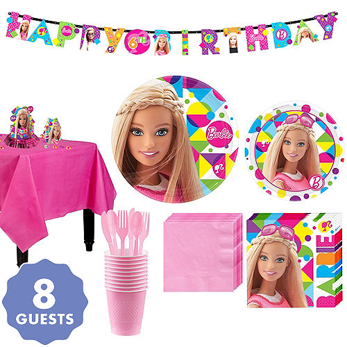 Barbie Tableware Party Kit For 8 Guests