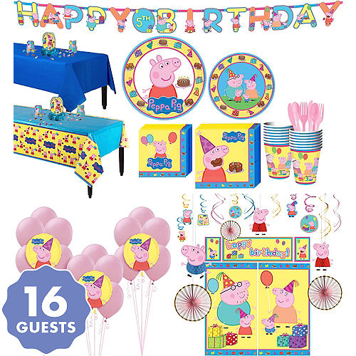 Peppa Pig Tableware Ultimate Kit For 16 Guests