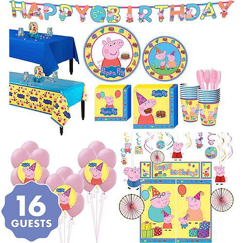 Peppa Pig Tableware Ultimate Kit For 16 Guests