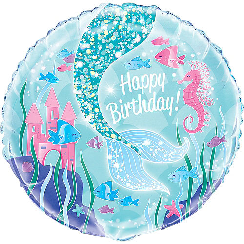 Mermaid Happy Birthday Balloon