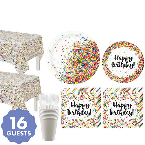 Rainbow Sprinkles Party Supplies - Rainbow Sprinkles Birthday Party