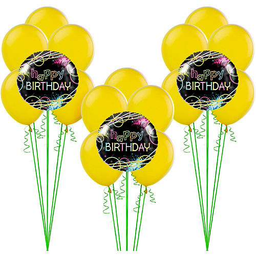 Neon Party Balloon Kit
