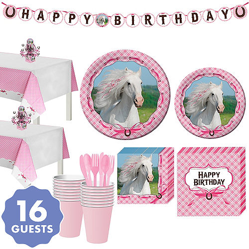 Heart My Horse Tableware Party Kit For 16 Guests