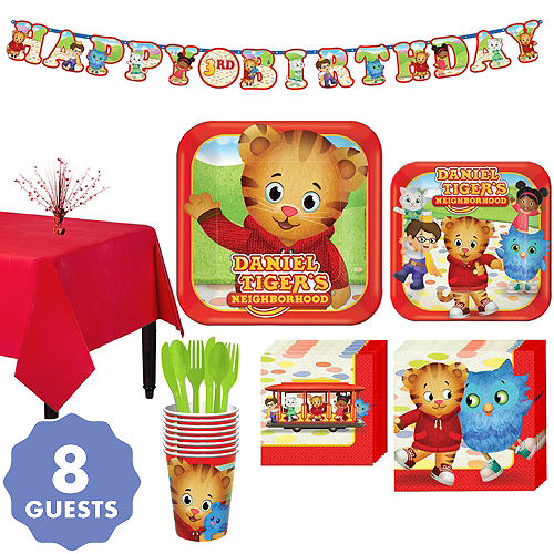 Daniel Tiger Tableware Party Kit For 8 Guests
