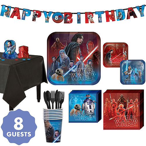 Star Wars 8 The Last Jedi Super Party Kit For Guests