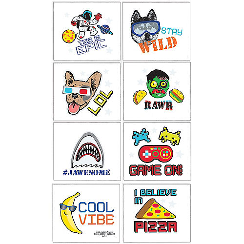 fe0e8d588 Temporary Tattoos - Fake Tattoos & Body Jewelry for Kids | Party City