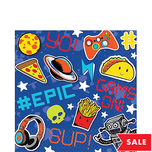 Epic Gamer Party Lunch Napkins 16 Pack