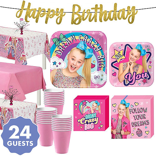 JoJo Siwa Basic Party Kit For 24 Guests