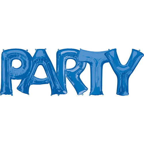 giant blue party letter balloon kit 6pc