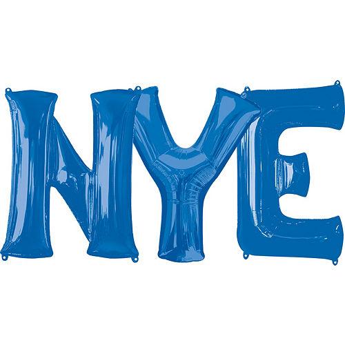giant blue nye letter balloon kit 4pc