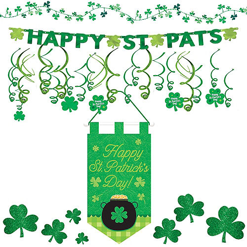 e5718e6dd1d Happy St. Patrick s Day Shamrock Super Decorating Kit