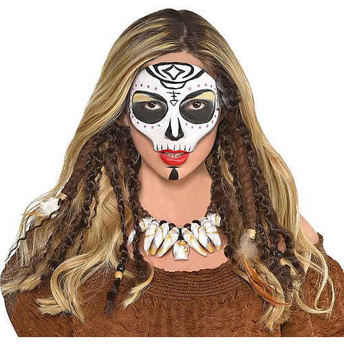 Witch Doctor Womens Adult Voodoo Accessory Dreadlock Hair Extensions