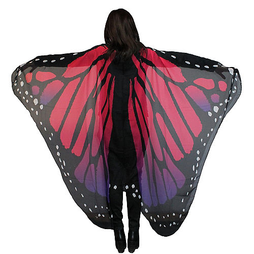 Purple Red Monarch Butterfly Wings