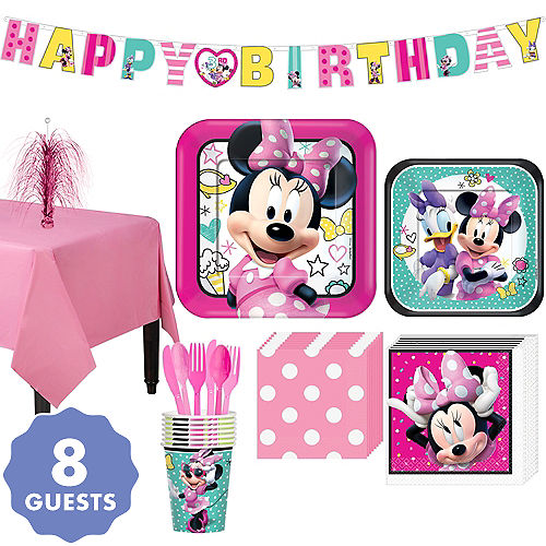 Minnie Mouse Basic Party Kit For 8 Guests