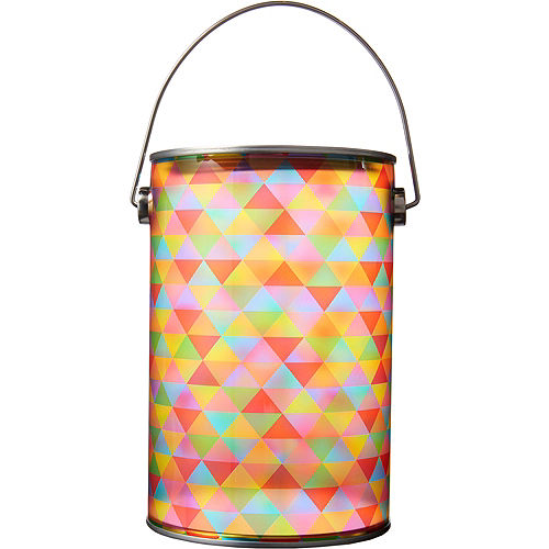 13fcc0126d Small Rainbow Geometric Traingle Plastic Favor Paint Can