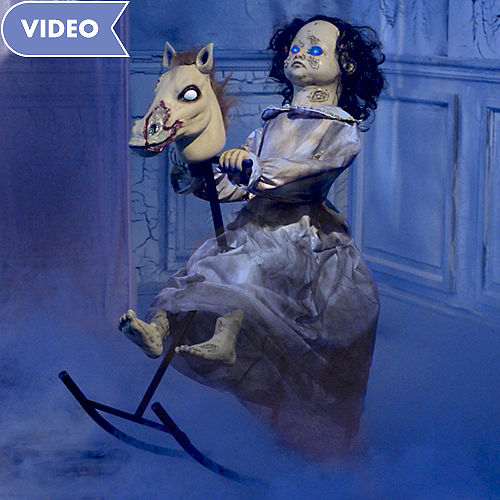 animated rocking horse girl