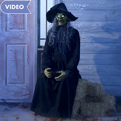 animated haunted witch