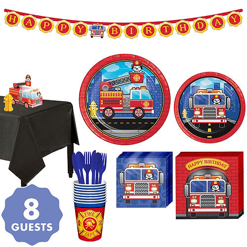 Firefighter 1st Birthday Party Supplies Party City