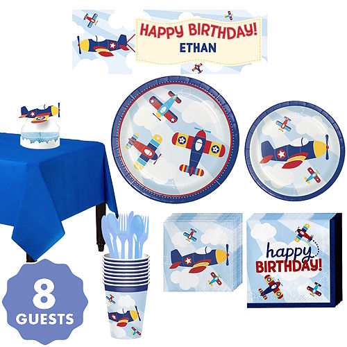 Airplane Basic Party Kit For 8 Guests