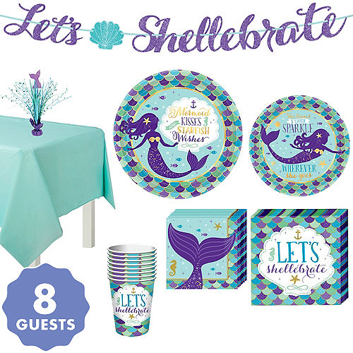 Wishful Mermaid Basic Party Kit for 8 Guests 1fa7244fb