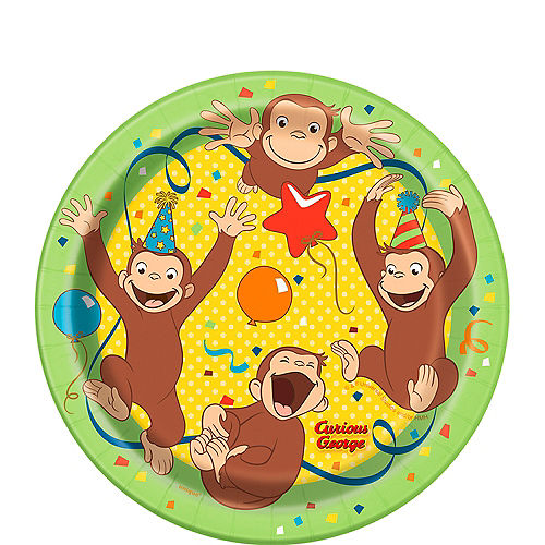 Curious George Dessert Plates 8ct
