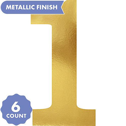 Metallic Gold Number 1 Cutouts 6ct