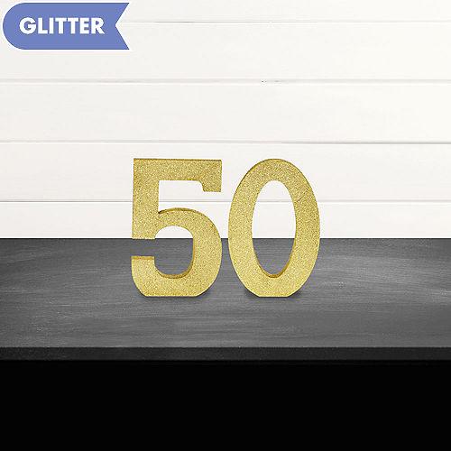 Glitter Gold 50 Sign Kit